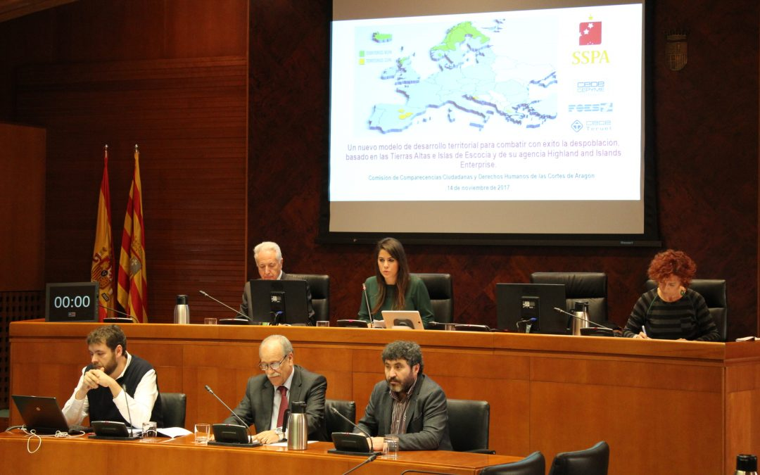 – SSPA asks the Cortes de Aragón for legislative changes and greater coordination to fight against depopulation